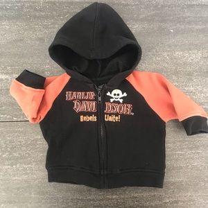 Harley Davidson Baby Boy Fleece Biker Jacket